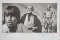 First Glimpse of Mos Eisley / Original Zeichnung / 26,5 x 37,4 cm