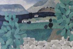 Blick zum Taygetos 1981 Öl auf Leinwand 70x120cm