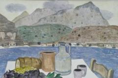 Stillleben am Meer 1997 Aquarell 38x57cm