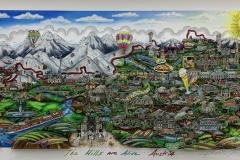 Charles Fazzino - The hills are alive...Austria - 3D Siebdruck - signiert-nummeriert