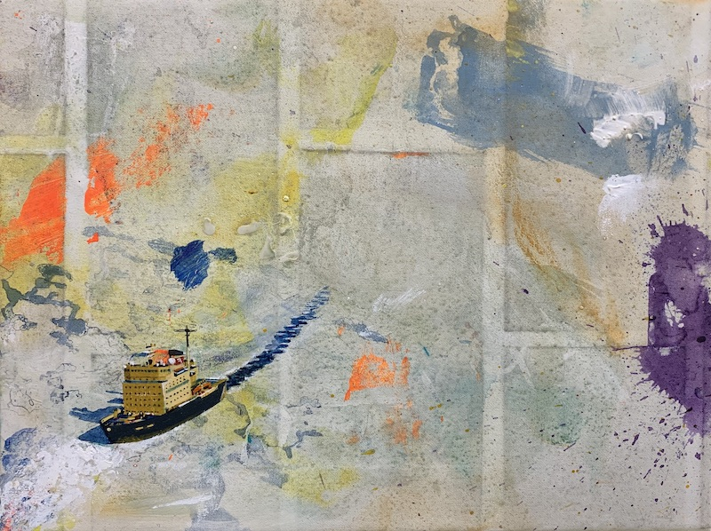 Aufbruch, 2019 Acryl auf Leinen 30 x 40 cm