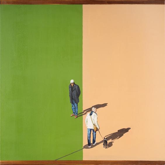 'Streetlife (3)', Acryl und Oel auf Leinen, 70 x 70 cm, 2008