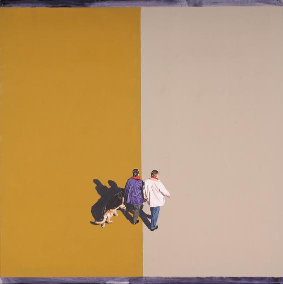 'Streetlife (4)', Acryl und Oel auf Leinen, 70 x 70 cm, 2008