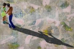 Etwas mehr Tanz ist erlaubt 3, 2019 Acryl auf Leinen 60 x 80 cm