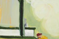 'Grinden, sliden, flippen', Oel auf Leinen, 80 x 50 cm, 2017