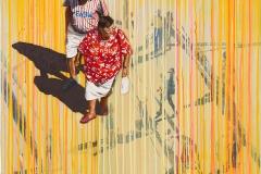 Nur die eine Liebe zaehlt 2018 Acryl auf Sperrholz auf Leinen 100x80cm