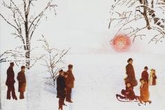 'Sepia-Winter', Oel auf Leinen, 30 x 40 cm, 2016