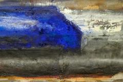 BLAUER SCHUB 2010 Öl auf Leinwand 70x120cm