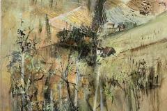 Weinberge bei Gamlitz - 2019 - Acryl auf Leinwand - 40 x 40 cm