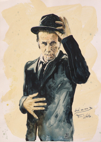 bad as me / Tom Waits-2012-Acryl auf Papier-50x70cm
