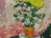 Gelbe Blumen-1985-Öl auf Holz-63,5x53,5cm