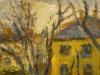 Blick aus dem Atelier-1985-Öl auf Leinwand-40x50cm