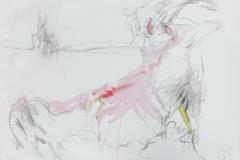 Herwig Zens - Athos Tryptichon I 2019 Acryl, Kohle, Lw 60x80cm