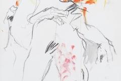 Herwig Zens - Feuerbach Paraphrase 2013 Acryl Kohle 100x60cm