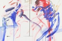 Herwig Zens-Der Tod-Acryl, Kohle 120x80cm