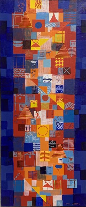 Blue Water - Acryl auf Leinwand - 70 x 30 cm