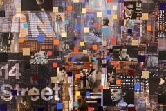 The people New York - Mixed Media auf Leinwand - 100 x 100 cm