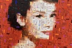 Audrey - Mixed Media auf Leinwand - 40 x 40 cm