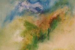 ERINNERUNGEN AN DIE GRÜNE TOSCANA -2013-Öl auf Leinwand 100x120cm