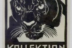 AUSSTELLUNG MOSER (Schwarzer Panther) 1949 Linolschnitt WVZ.Nr.278