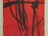 Öl/Monotypie auf Papier, 2004, 9,5x5,3cm