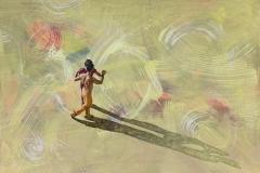 Etwas mehr Tanz ist erlaubt 1, 2019 Acryl auf Leinen 90 x 130 cm