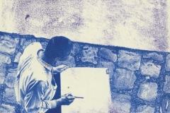 ''Peinture V', Kugelschreiber auf Resopal, 20,5 x 20,5 cm, 2007