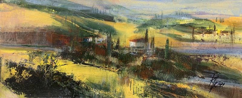 Toskana-Licht - 2020 - Acryl auf Leinwand - 30 x 70 cm