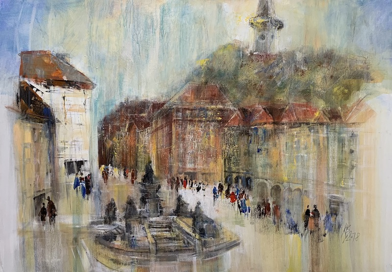 IGraz - Hauptplatz - 2018 - Acryl auf Leinwand - 70 x 100 cm