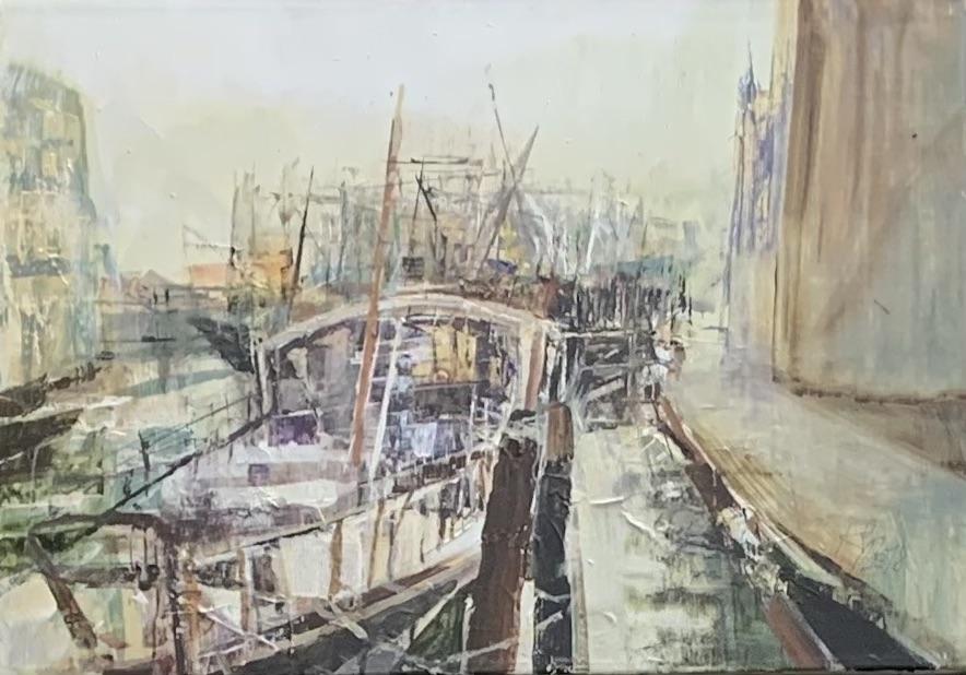 Hafen - Chioggia - Venedig - 2018 - Acryl auf Leinwand - 50 x 70 cm