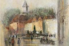 Graz - Hauptplatz - 2019 - Acryl auf Leinwand - 50 x 70 cm
