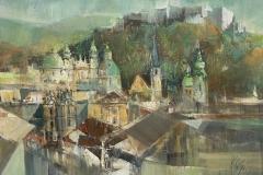 Salzburg - 2017 - Acryl auf Leinwand - 40 x50 cm