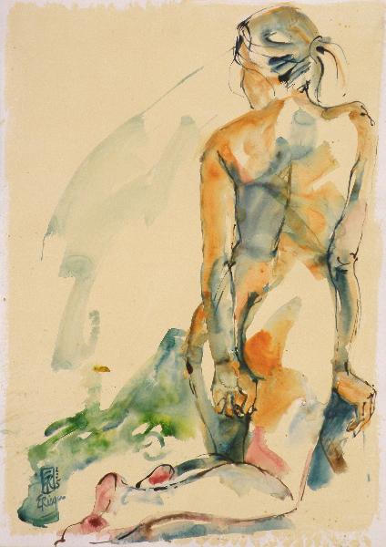 Akt-2005-Acryl-auf-Papier-70x50cm