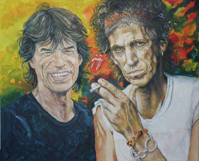 Rolling-Stones-2009-Oel auf Leinwand-80x100cm