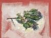 Fruchtzweig-2006-Acryl auf Papier-34,5x46,5cm