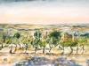 Gallo Nero,Toscana-2000-Acryl auf Papier-50x70cm