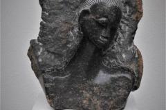 Unknown - Shy woman - H 34 cm
