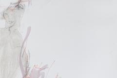Herwig Zens - Athos Tryptichon II 2019 Acryl, Kohle, Lw 80x50cm