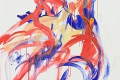 Herwig Zens - Die Muse Polyhymnia 2015 Acryl, Kohle, Lw 100x80cm publiziert