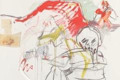 Herwig Zens-Der Leiermann 2011 Acryl,Kohle publiziert