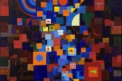 Moons Gulf - Acryl auf Leinwand - 80 x 80 cm